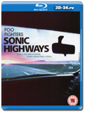 Foo Fighters: Sonic Highways (Blu-ray, блю-рей) 3 диска