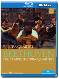 Ludwig van Beethoven: The Complete String Quartets (Blu-ray, блю-рей) 4 диска
